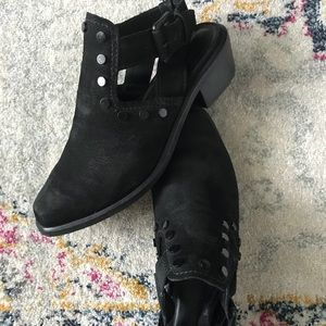 M4DE leather studded booties